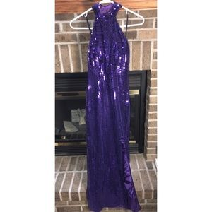 VINTAGE Size 3/4 Nadine Purple Sequin Gown